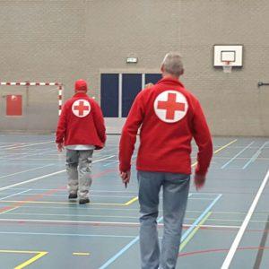 Rode Kruis sporthal vluchtelingen
