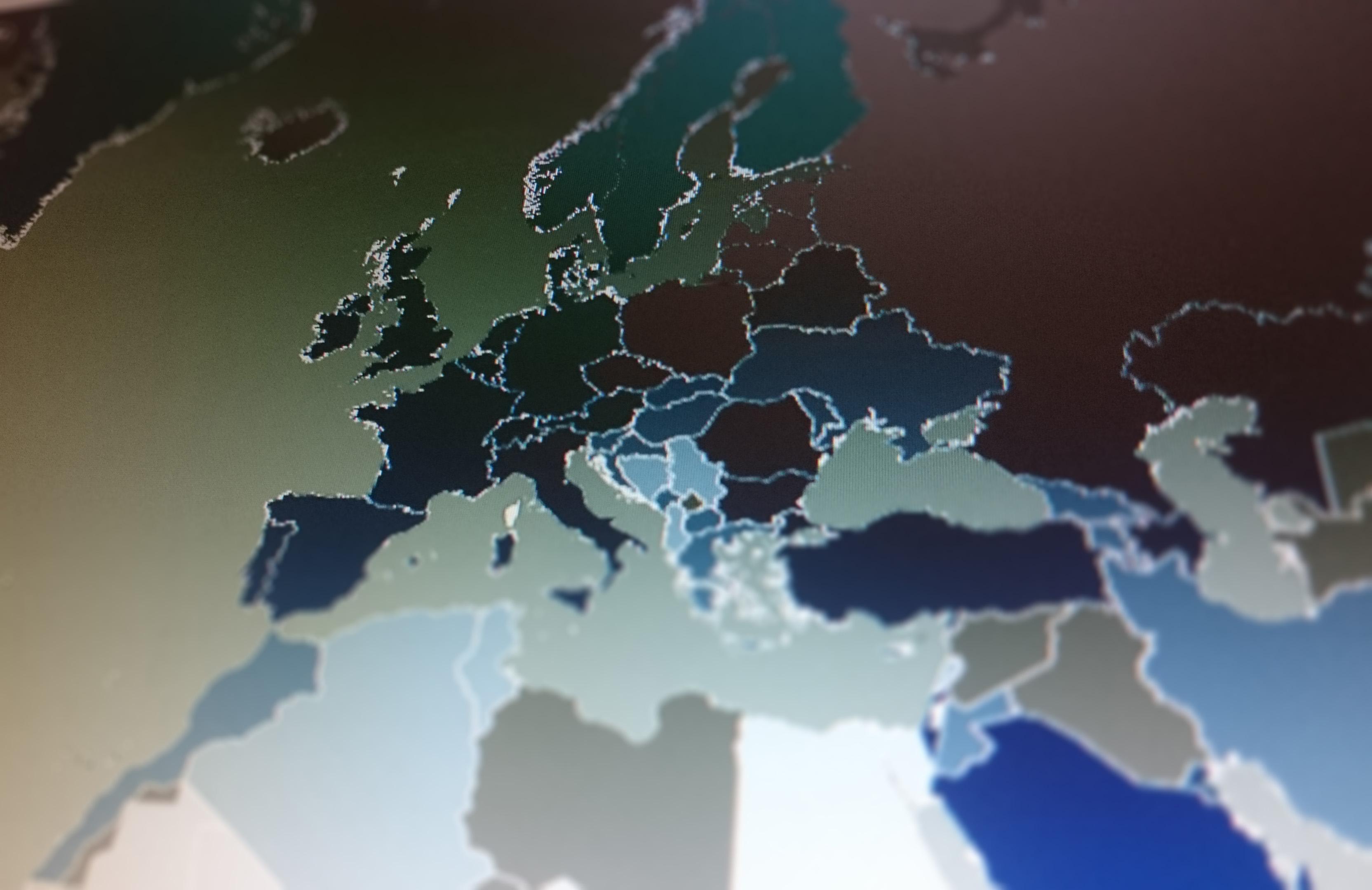 kaart europa concurrentie wereld