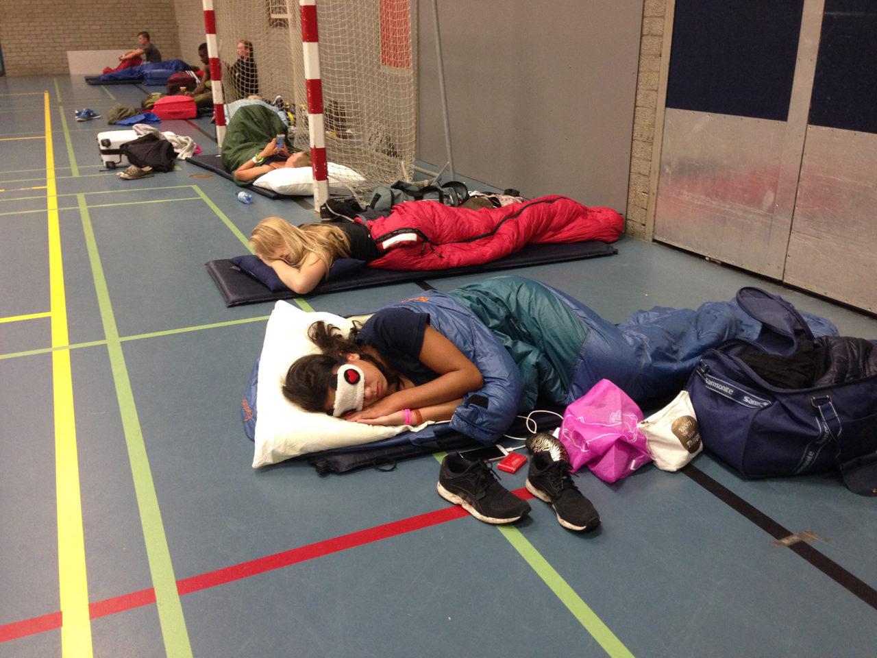 wakker worden in de sporthal eurekaweek