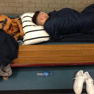 wakker worden in de sporthal eurekaweek 2