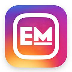 em instagram