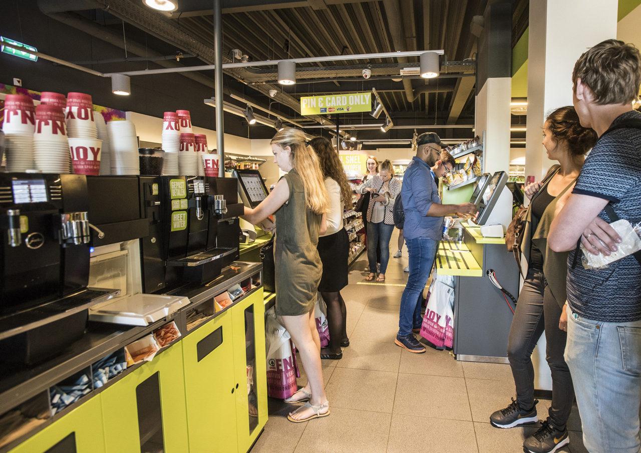 spar campussupermarkt selfservice kassa's