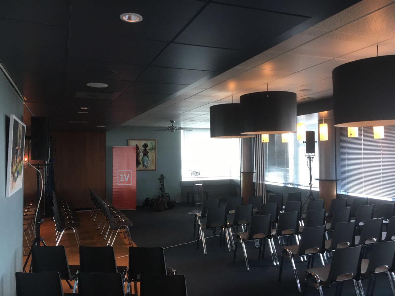 faculty club klaar voor persconferentie rutte