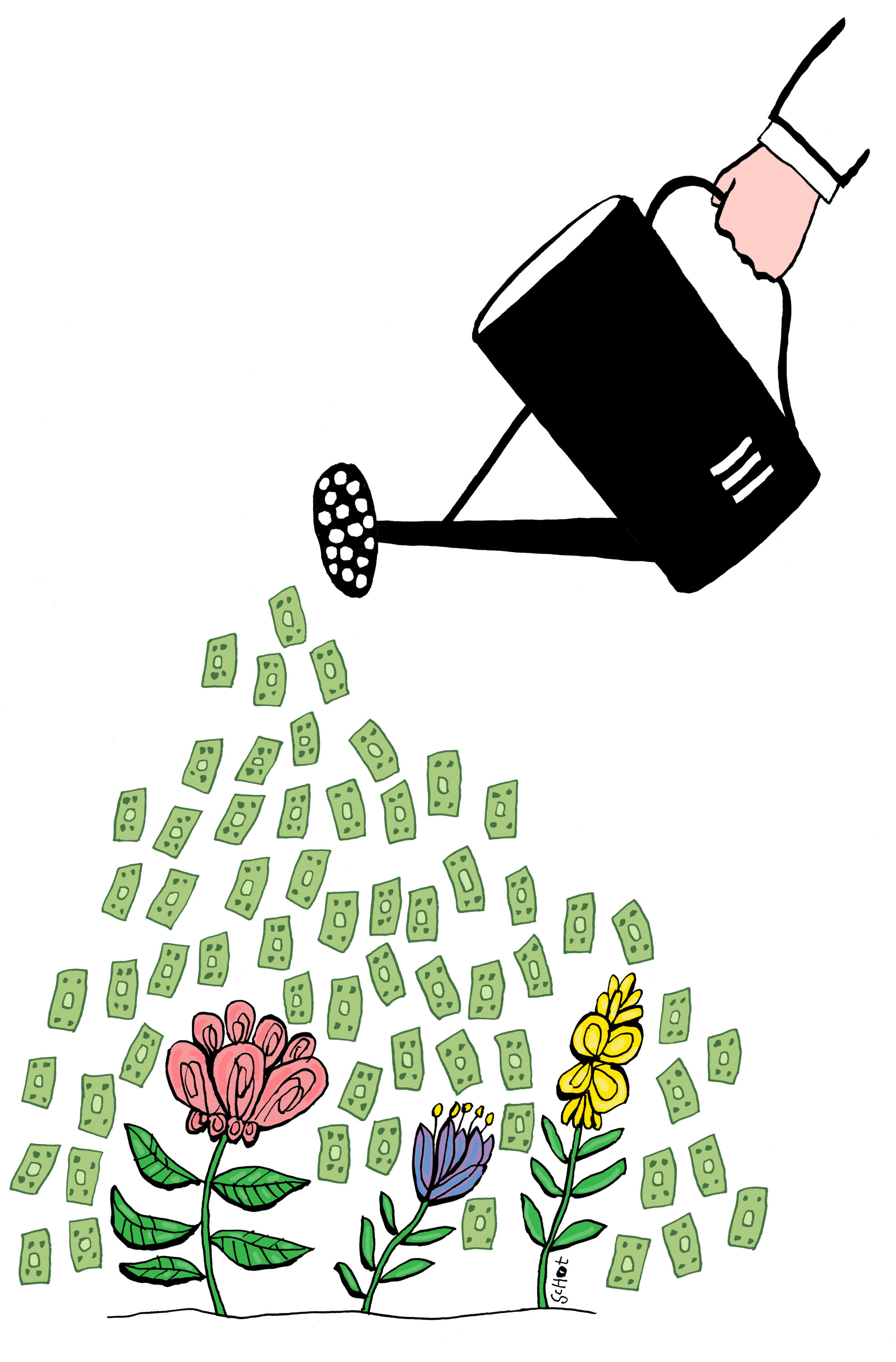 em-filantropie gieter geld