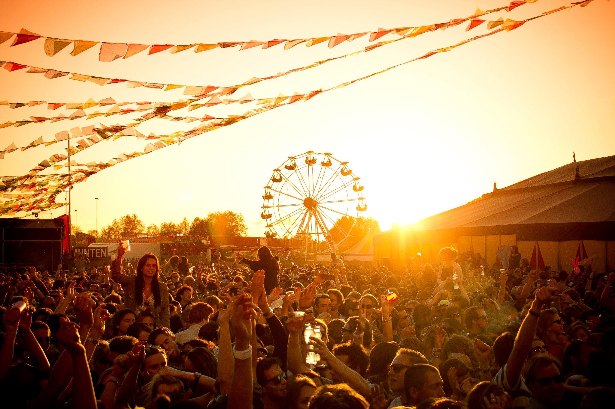 Festival zonnig