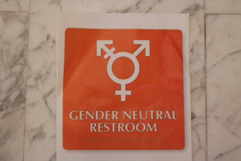 Gender Neutral Bathroom sign foto Laanen