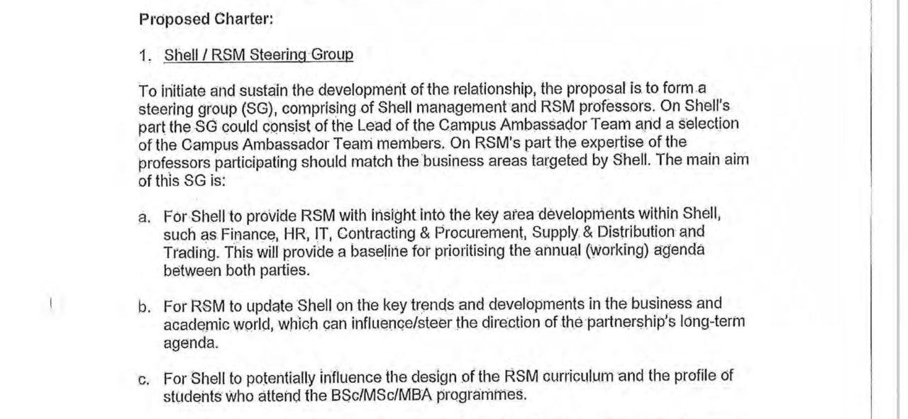 Shell RSM Partnership uitsnede pagina 1