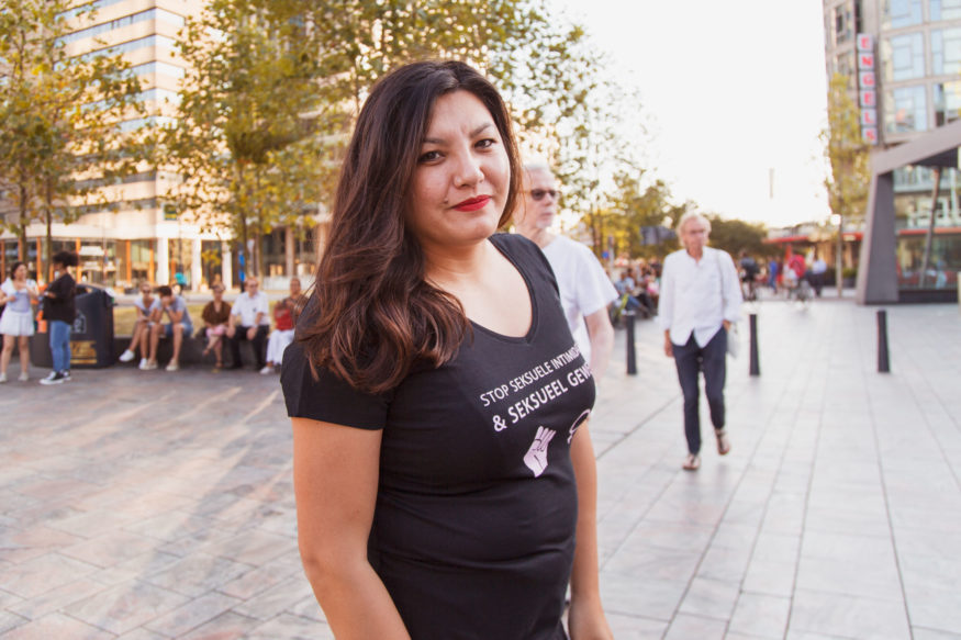 2018-07-31-stille-tocht-verkrachte-studente-foto-Aysha-Gasanova-Mede-organisator-Wai-Yin-van-Eijk