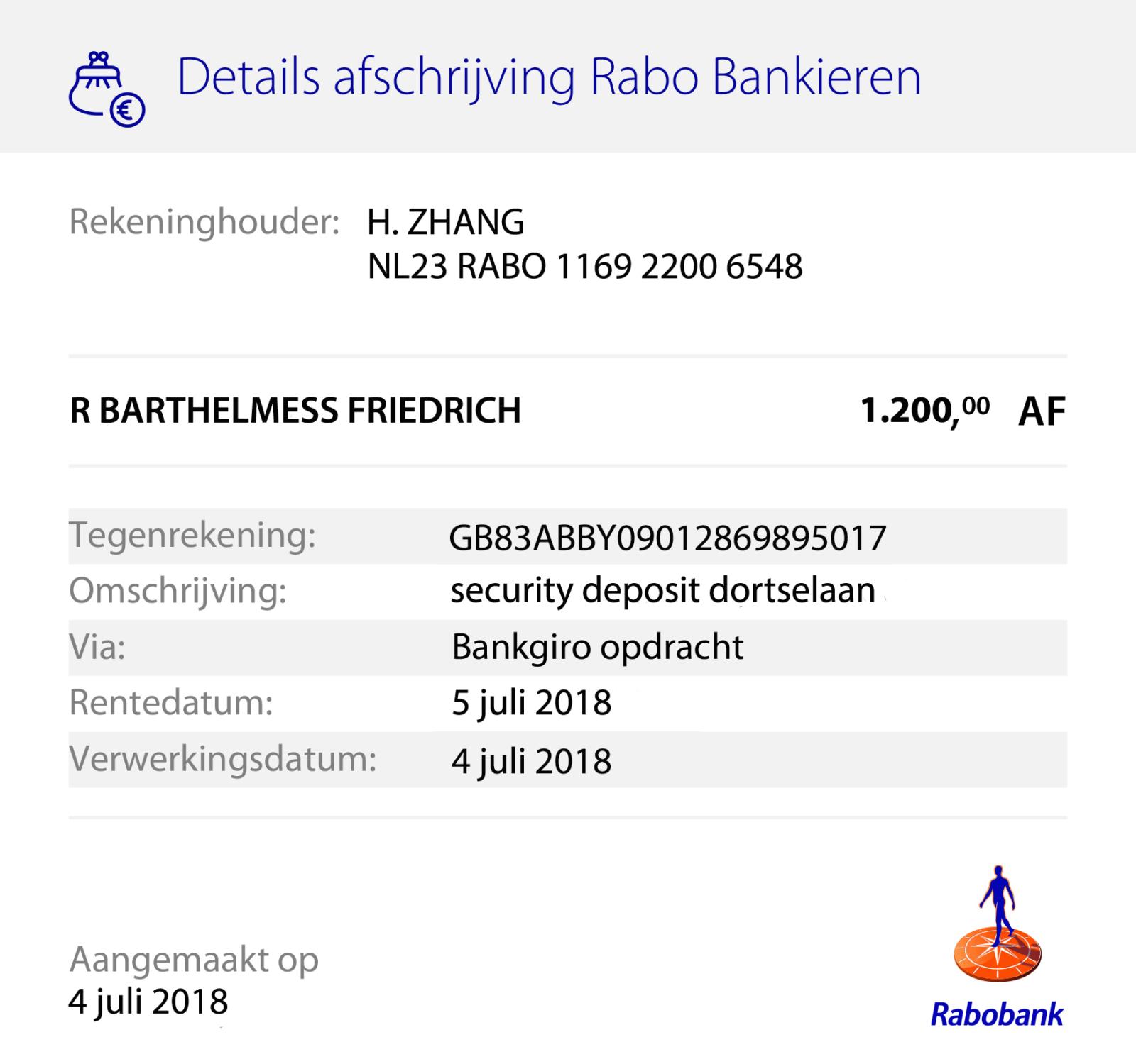 bankafschrift-borg-Dordtselaan