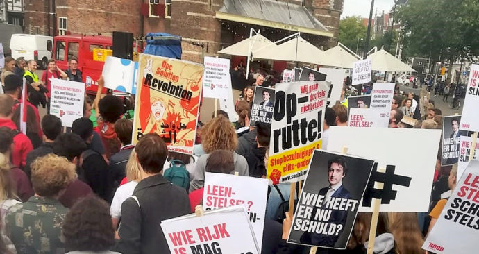 demonstratie Nieuwmarkt 14 september 2018