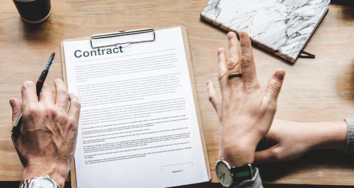 contract onderhandeling