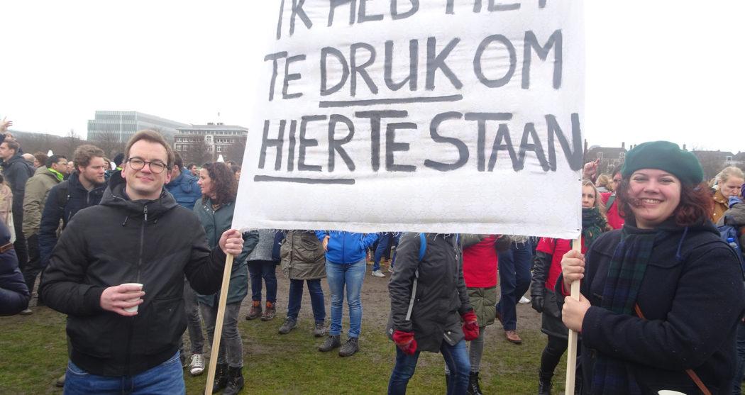 Damian-Trilling-docent-werkdruk-protest-demonstratie-woinactie