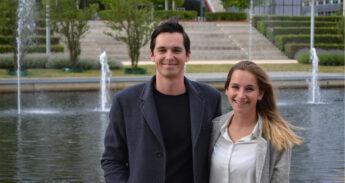 Jasper De Fluiter Balledux (22) en Mariska Dommanschet (22) van het Eurekaweekbestuur 2019