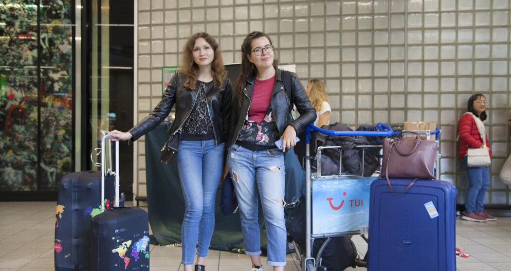 Internationale studenten, schiphol