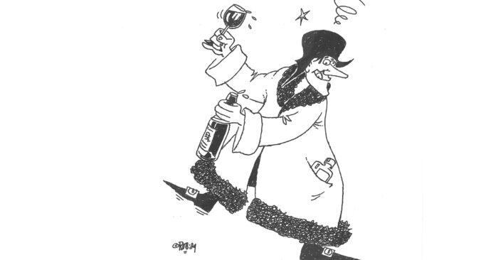 Dronken Erasmus uit Quod Novum – Rob Figee 1989