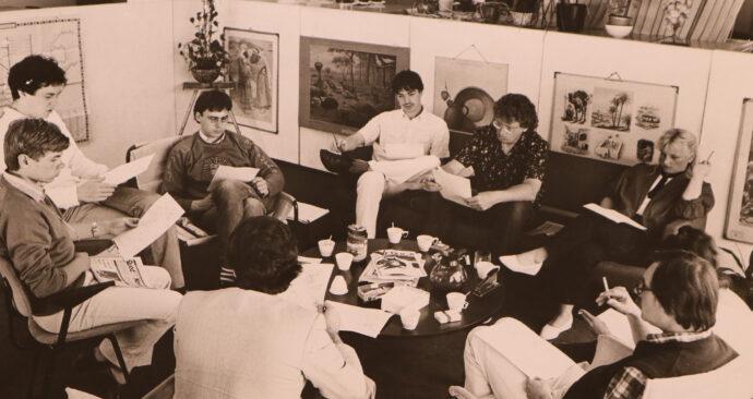 Redactievergadering Quod Novum juni 1984