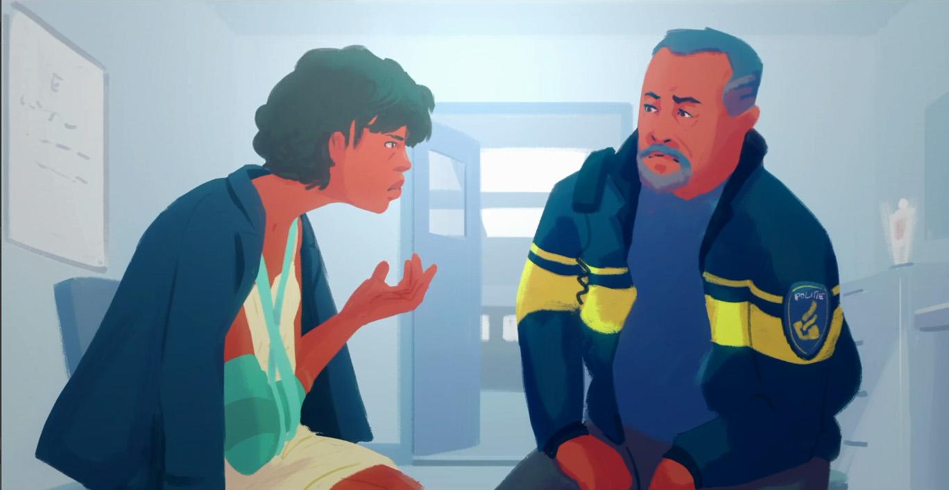 robin interactieve film gebroken arm bij de politie