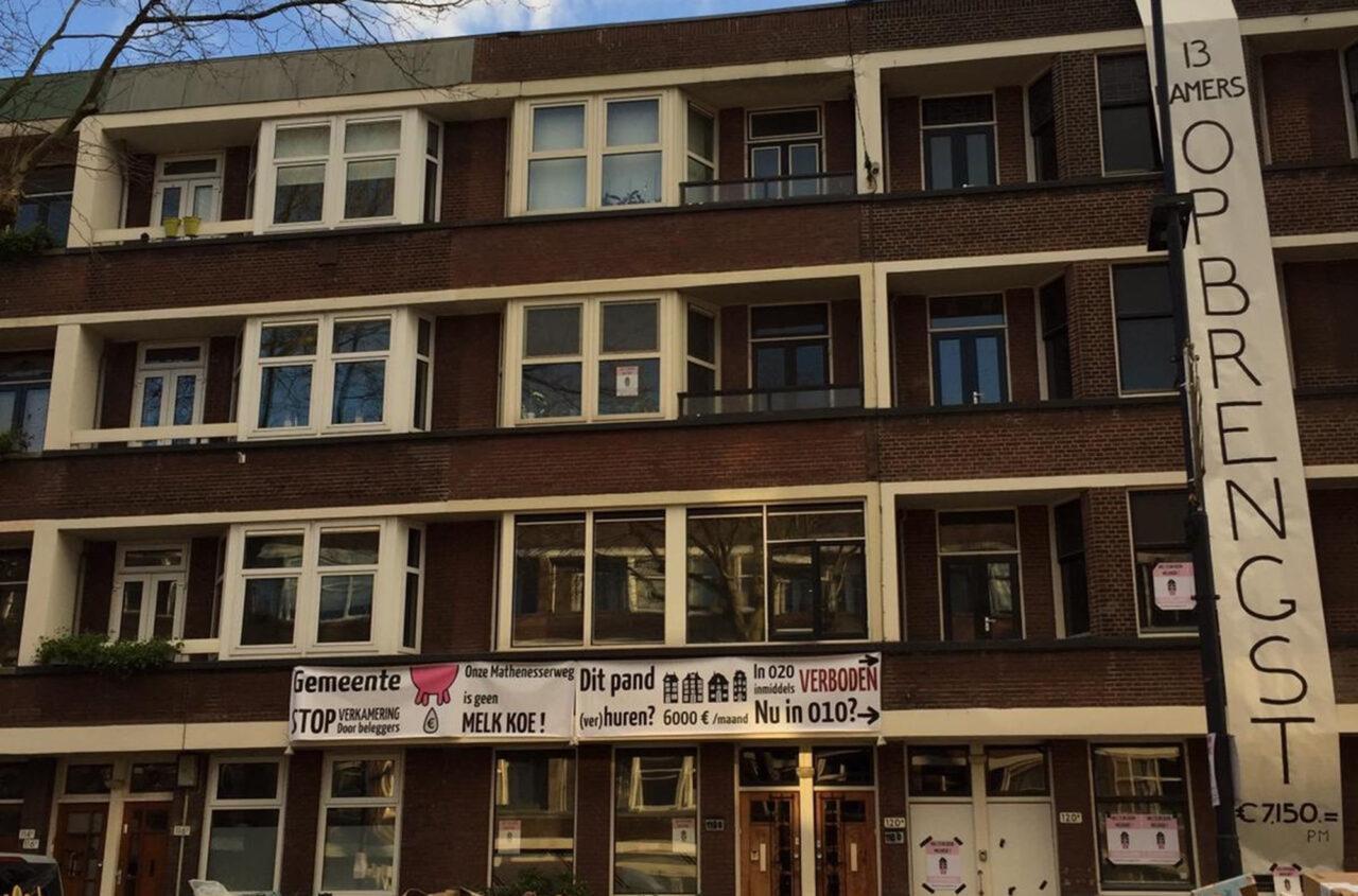 mathenesserweg protest studentenkamers melkkoe verkamering