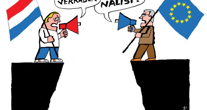 van der schot polarisatie landverrader nationalist