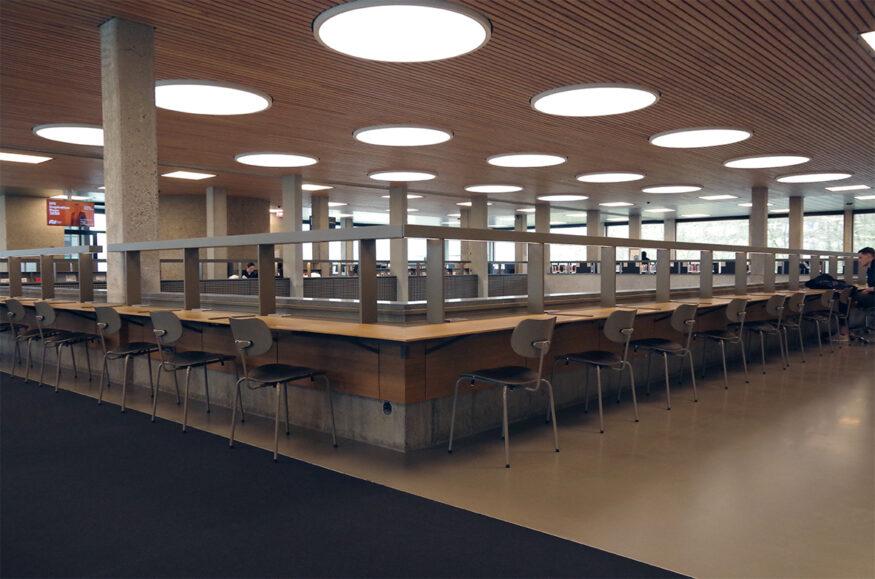 coronavirus verlaten bibliotheek campus