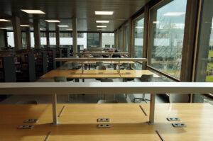 coronavirus verlaten campus bibliotheek