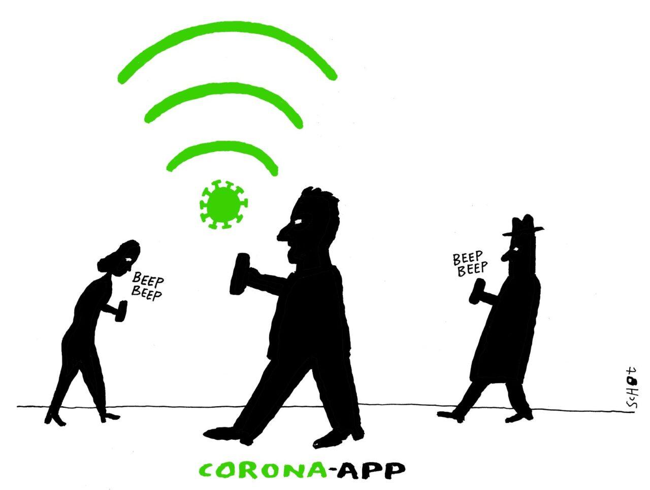 kwestie corona app – Bas van der Schot