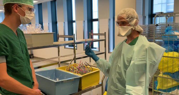 vlcsnap robbert-jan recycling sterilisatie gezichtsmaskers brillen Erasmus MC
