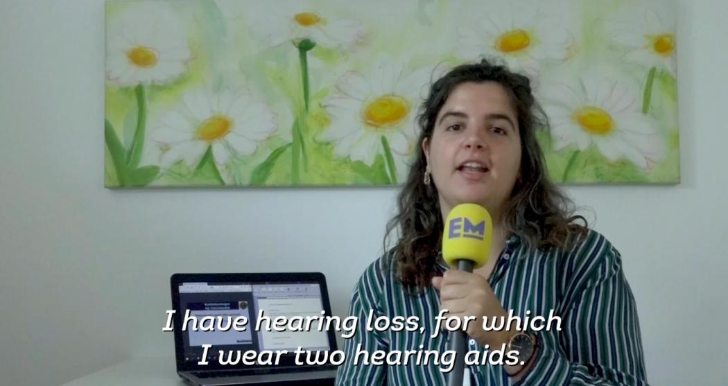 Tanja bij Erasmus TV