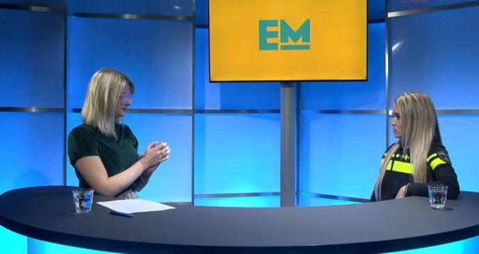 wijkagent Shelley van de Veen in EM TV