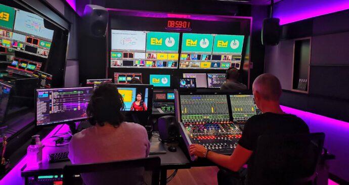 Achter de schermen bij EM TV – studio  CLI