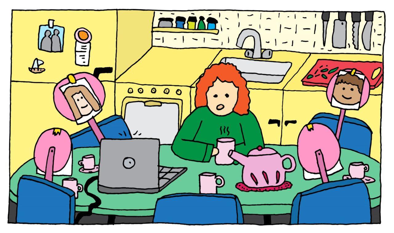 docenten houden vol illustratie Hoogendoorn aangepast