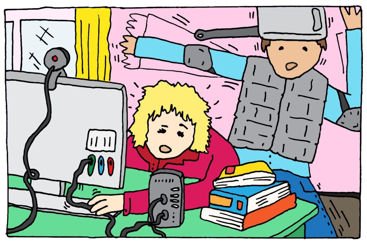 docenten houden vol illustratie Van Thiel-aangepast