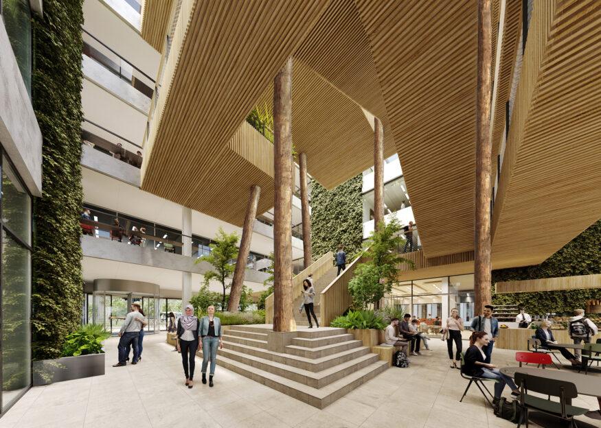 Multifunctioneel onderwijsgebouw II naast polak Begane grond – paul de ruiter architects