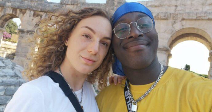 Laura en haar vriend Yorel