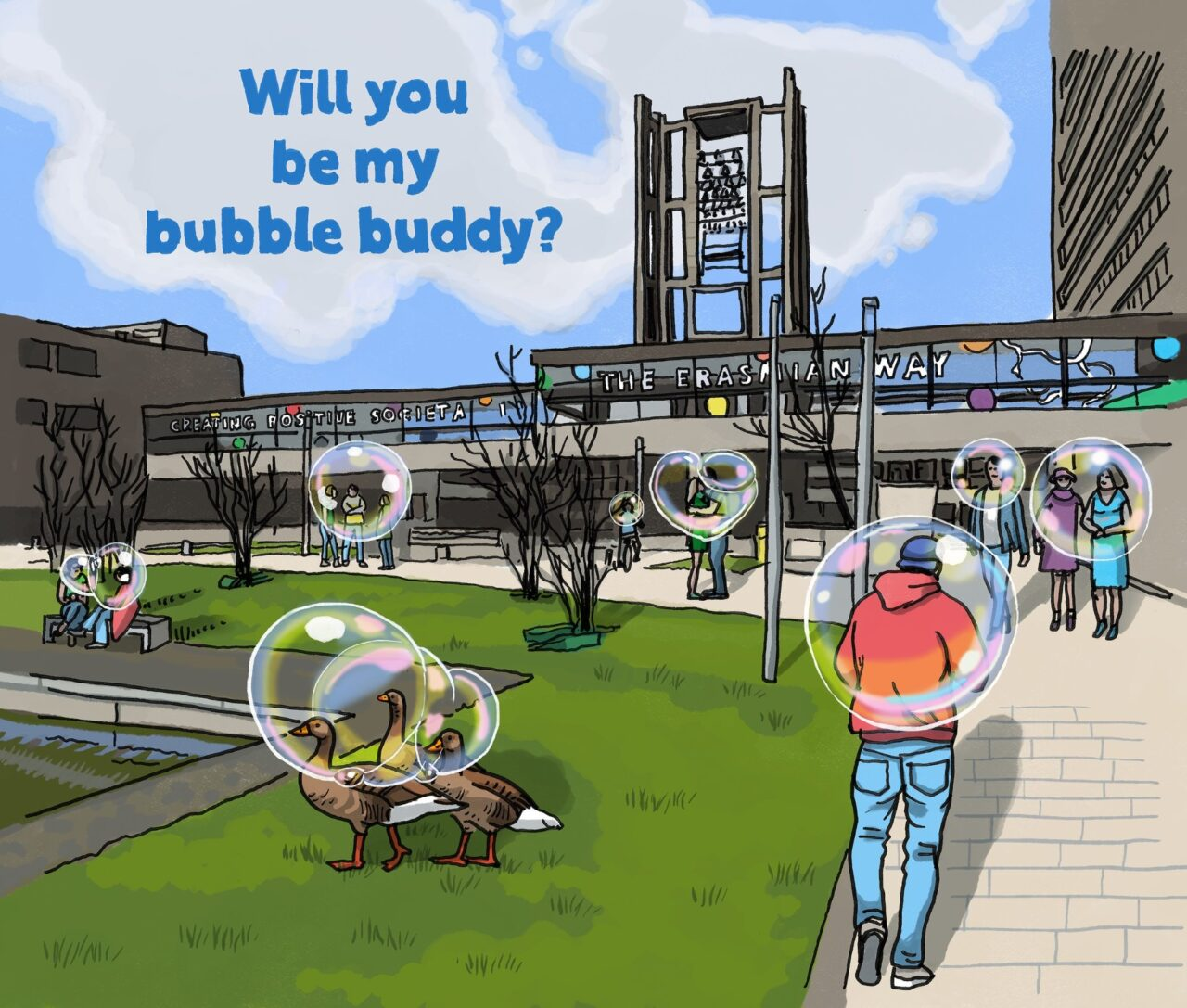 will you be my bubble buddy ikrotterdam (EM)