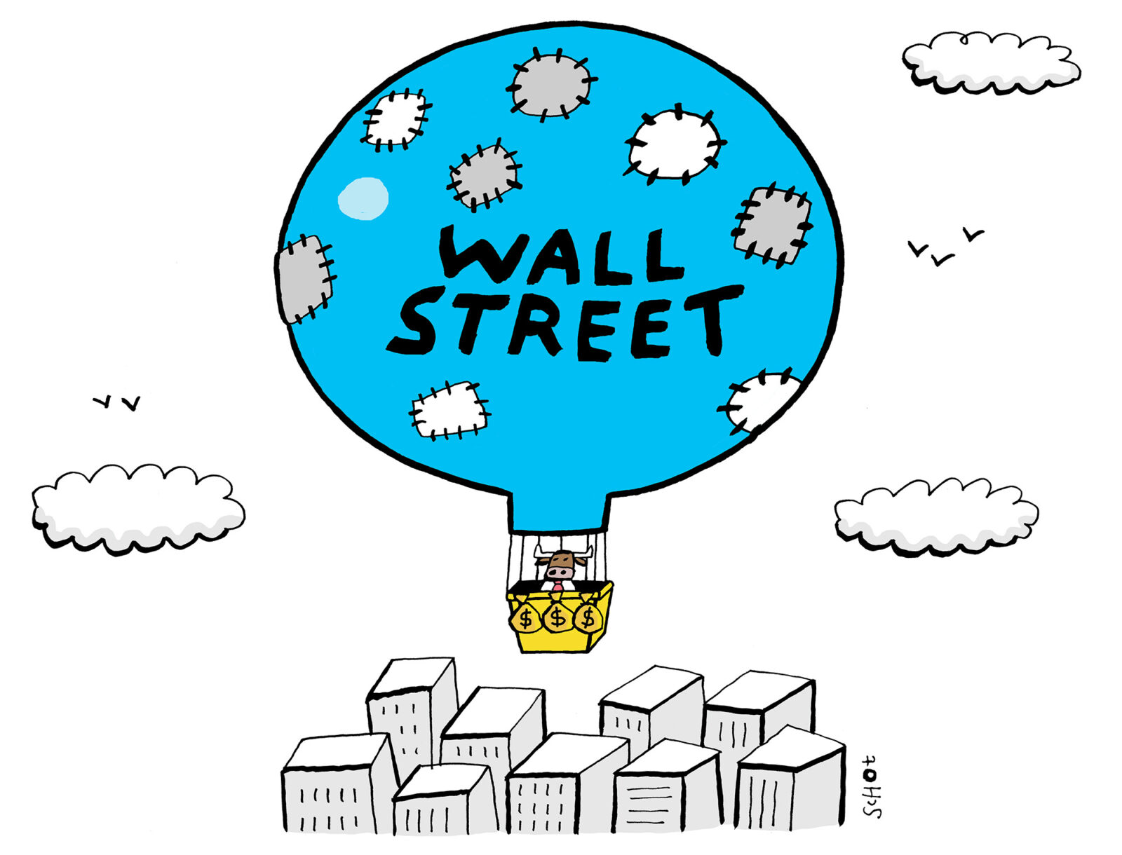 Kwestie – bubble wallstreet – Bas van der Schot