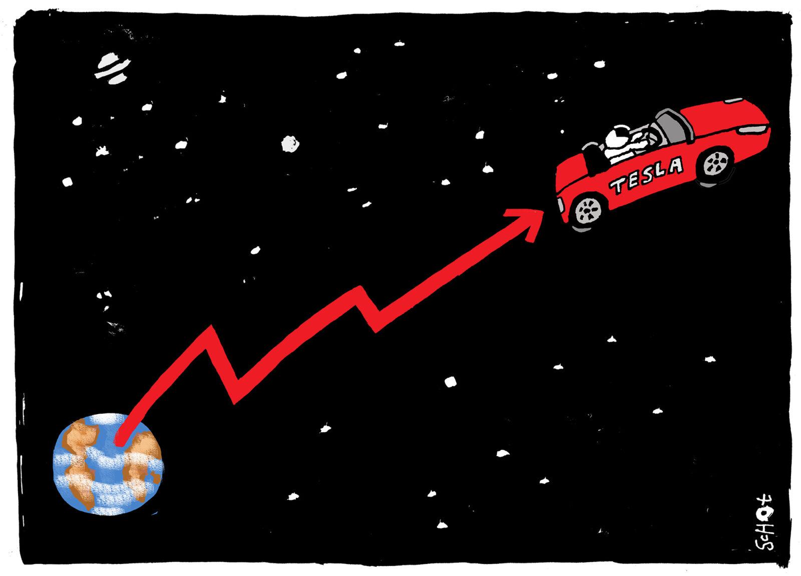 Kwestie – aandeel tesla aarde – Bas van der Schot