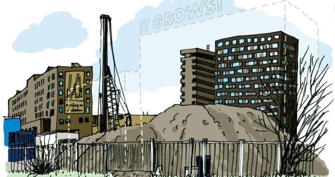bouw nieuw sportgebouw illustratie maart – ikrotterdam