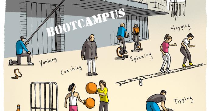 Ikrotterdam, bootcamp, sporten, lege campus