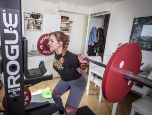 dominique weightliften gewichtheffen foto Ronald van de Heerik
