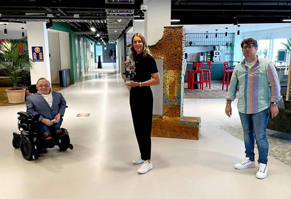 Judith Wiskie Rick Brink Bart de Bart Radio 1 inclusieve werkgever award foto EUR