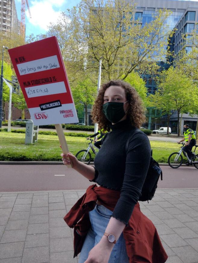 student studieschuld protest leenstelsel rotterdam 19-05-2021