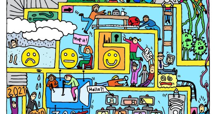 Illustratie mentale gezondheid studenten EM 2021-21