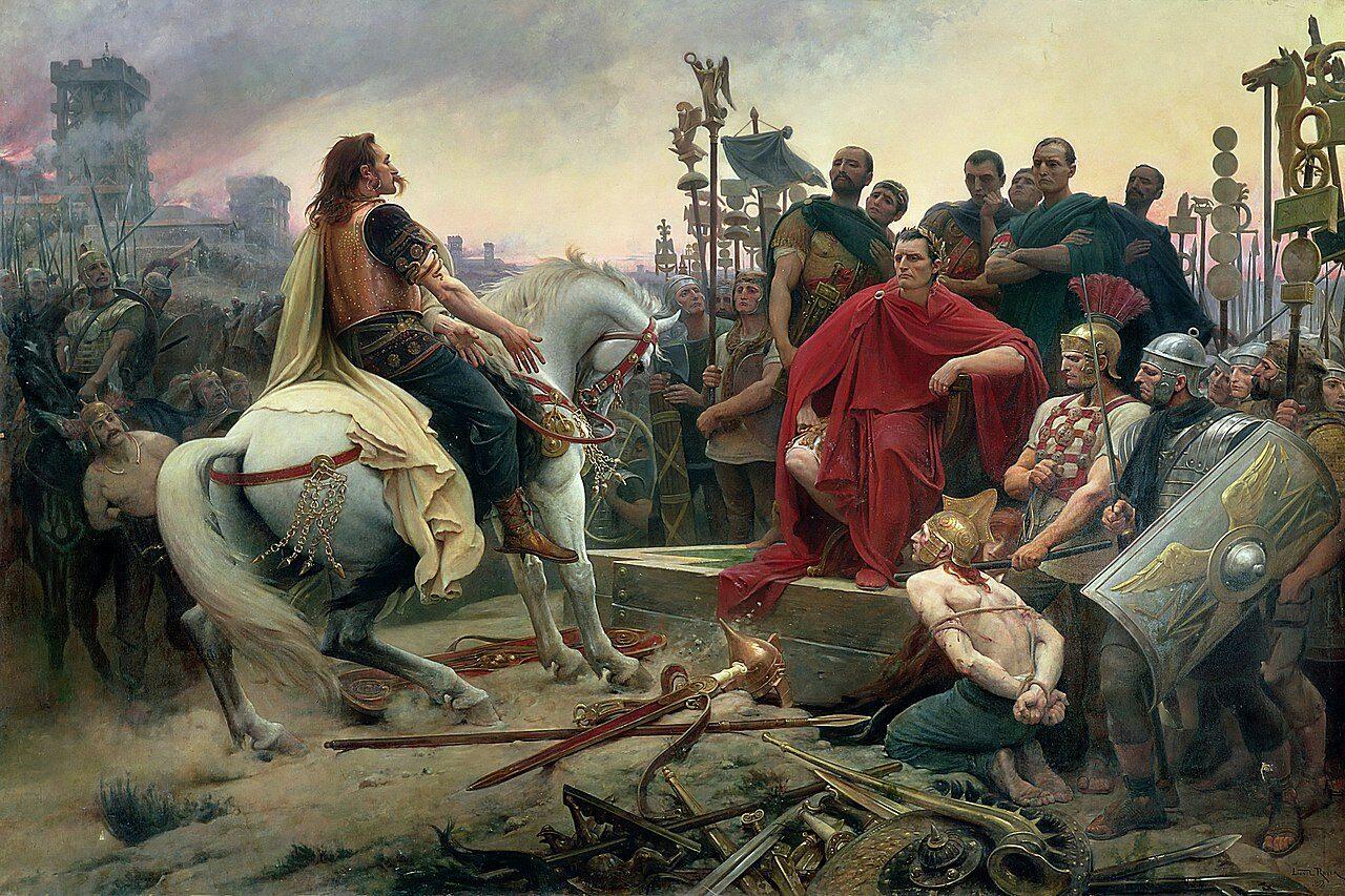 1280px-Siege-alesia-vercingetorix-jules-cesar Veni Vidi Vici