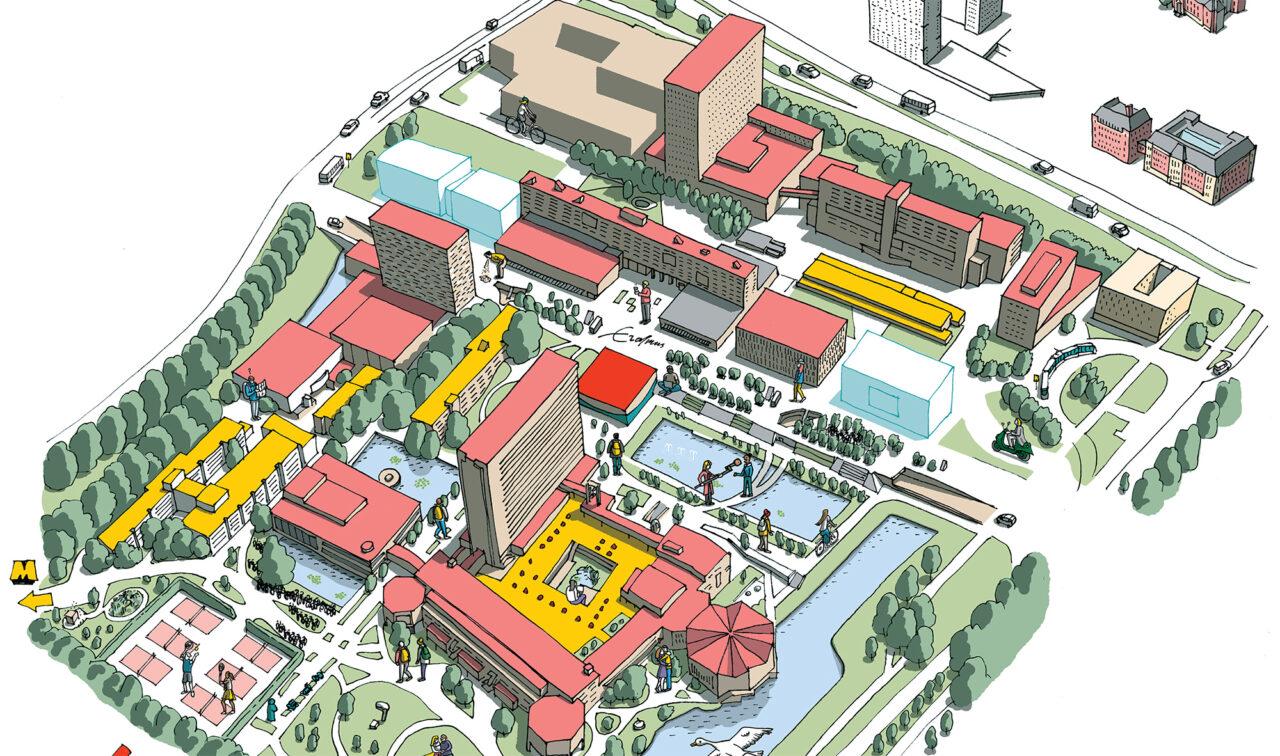 EM_map_zondertekst plattegrond kaart campus woudestein