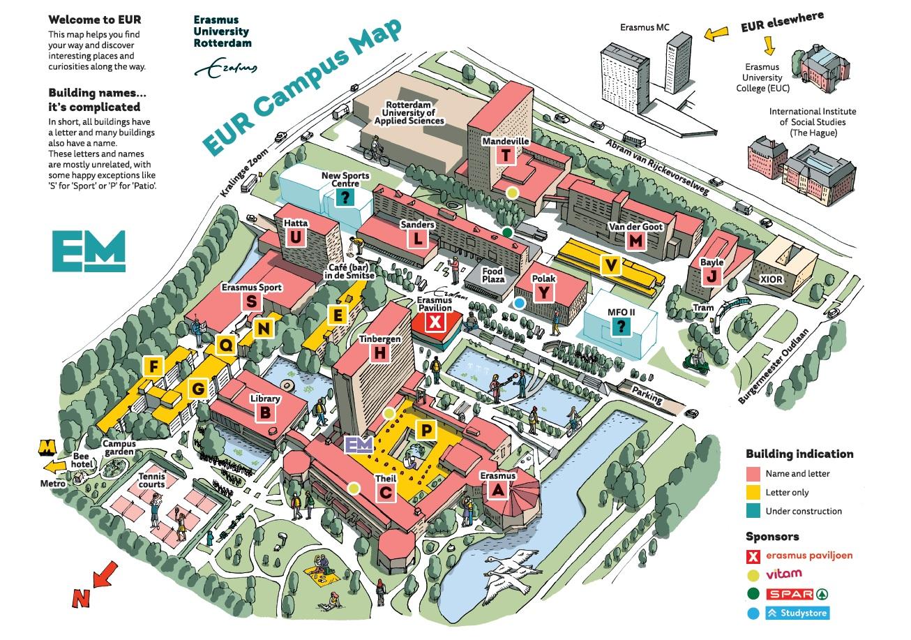 Plattegrond campus