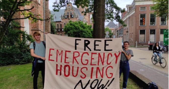protest groningen wonen studentenhuisvesting dakloze studenten bij oaj – groninger studentenbond