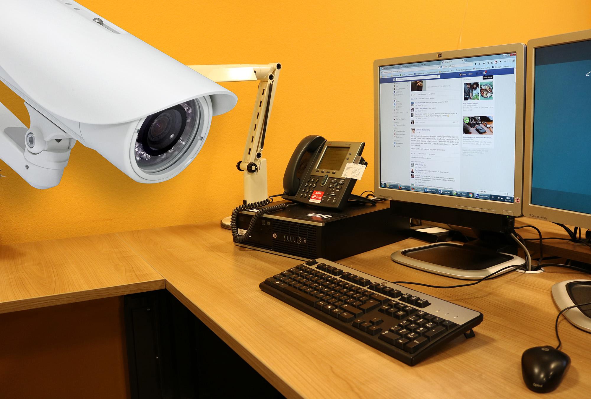 computer bespioneren privacy e-mail facebook werk