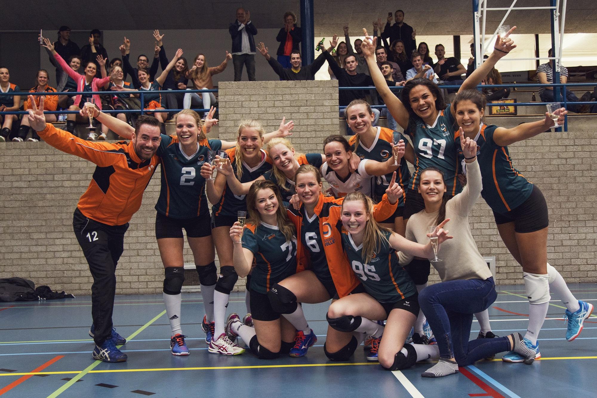 Erasmus Volley Dames kampioen City Bril Krimpen