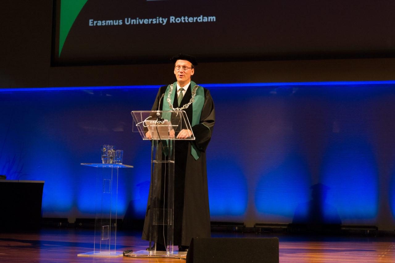 Rector Magnificus Huib Pols bij de Opening van het Academisch Jaar 2015-2016